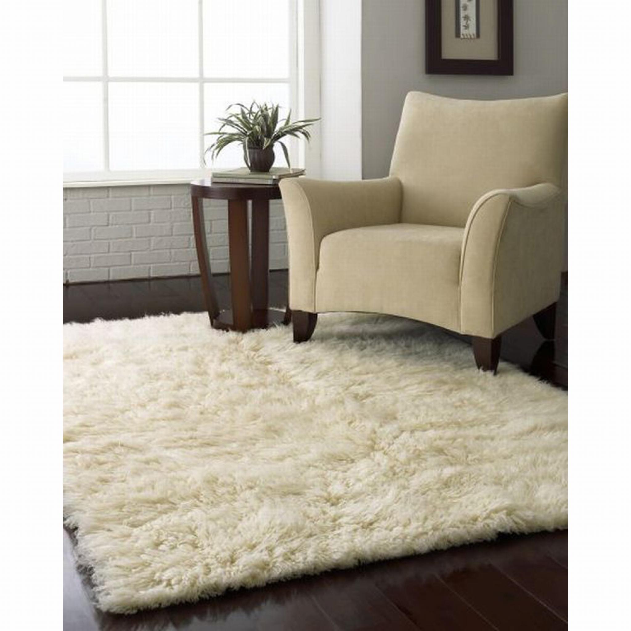 Flokati Rugs in Natural Wool 2000gsm
