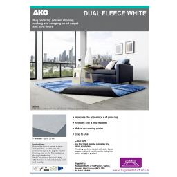 All Surface-Fleece Rug Gripper Anti-Slip Underlay (AKO Dual Fleece)