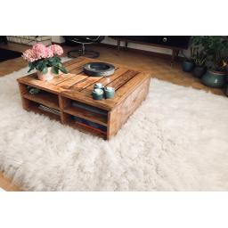 Premium Flokati Rugs in Natural Wool 2000gsm