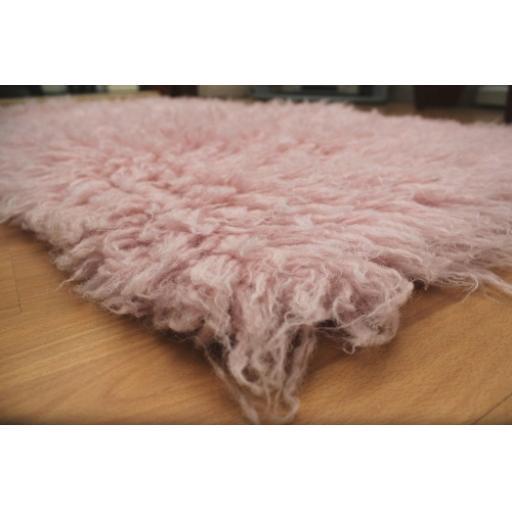Premium Pink Flokati Rugs (2000 gsm)