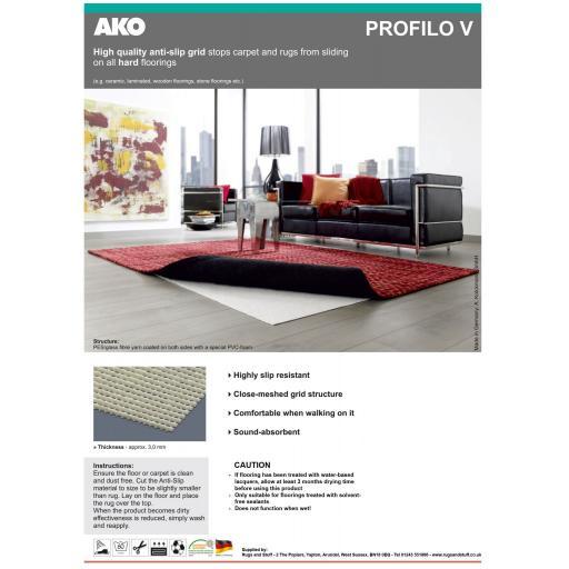 Premium Hard Floor Rug Gripper Anti-Slip Underlay (AKO Profilo)